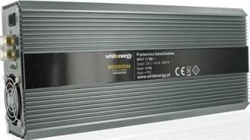 Invertor Whitenergy DC AC de la 12V DC la 230V AC 2000W 2 AC receptacle