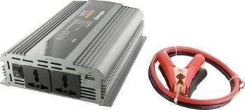 Invertor Whitenergy DC AC de la 24V DC la 230V AC 1000W 2 Receptacule AC Compresoare Redresoare and Accesorii