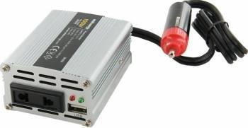 Invertor Whitenergy DC AC de la 12V DC la 230V AC 100W USB mini Compresoare Redresoare and Accesorii