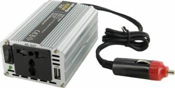 Invertor Whitenergy DC AC de la 12V DC la 230V AC 200W USB Compresoare Redresoare and Accesorii
