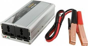 Invertor Whitenergy DC AC de la 12V DC la 230V AC 400W 2 AC Receptacle