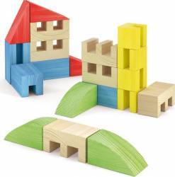 Joc Constructie Toytown 22 piese Quercetti Lego