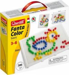 Joc creativ Fanta Color Basic Quercetti creatie imagini mozaic 100 piese Cani, pahare, accesorii masa