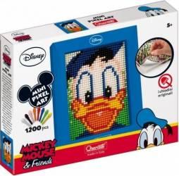 Joc creativ Mini Pixel Art Quercetti tablou Donald Duck 1200 piese Jucarii Interactive