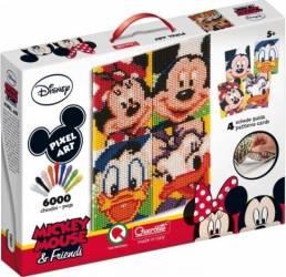 Joc creativ Pixel Art Quercetti tablou Mickey Mouse si prietenii lui 6000 piese Cantare, termometre si aerosoli