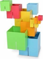 Joc de constructie Cuburi DADO Original - Fat Brain Toys Puzzle si Lego