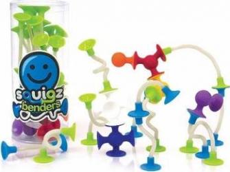 Joc de constructie Squigz Flexi Set - Fat Brain Toys Puzzle si Lego
