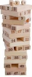 Joc din lemn natur cu cifre MomKi mk6881