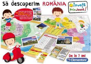 Joc educativ Clementoni Sa Descoperim Romania 7 ani + Multicolor Jucarii Interactive
