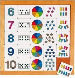 Joc educativ pentru gradinita Diagrama de la 6 la 10 - Educo Ghiozdane si trolere