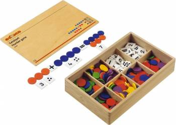 Joc educativ pentru gradinita Numerele - Educo Ghiozdane si trolere