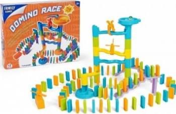 Joc pentru copii Domino cu rampa bile 113 piese