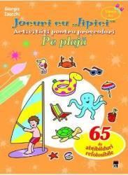Jocuri cu lipici - Pe plaja - Activitati pentru prescolari - Giorgia Isacchi Carti