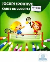 Jocuri sportive - Carte de colorat
