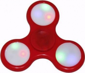 Jucarie Antistres Cronos THT-1 Fidget Hand Spinner cu LED - Red Jucarii antistres