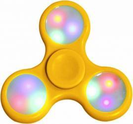 Jucarie Antistres Cronos THT-1 Fidget Hand Spinner cu LED - Yellow Jucarii antistres