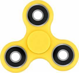 Jucarie Antistres HIT Classic Fidget Spinner Yellow Jucarii antistres