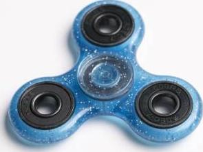Jucarie Antistres HIT Fidget Spinner cu Sclipici BL Jucarii antistres