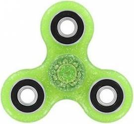 Jucarie Antistres HIT Fidget Spinner cu Sclipici Green Jucarii antistres