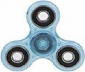 Jucarie Antistres HIT Fidget Spinner Fosforescent Blue Jucarii antistres