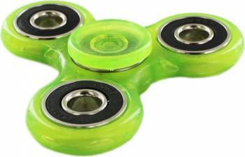 Jucarie Antistres HIT Fidget Spinner Fosforescent Green Jucarii antistres
