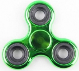 Jucarie Antistres HIT Fidget Spinner Metalic Green Jucarii antistres