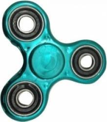 Jucarie Antistres HIT Fidget Spinner Metalic Turquoise Jucarii antistres