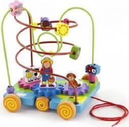 Jucarie copii New Classic Toys Beadframe Activity - Farm Jucarii