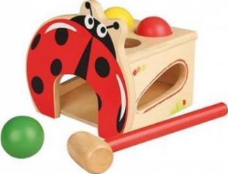 Jucarie copii New Classic Toys Hammer Ball Game - Ladybug Jucarii
