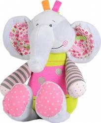 Jucarie de plus copii sunatoare elefant BabyOno 1195 Jucarii de Plus