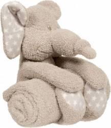 Jucarie de plus cu paturica pentru bebelusi Zimbe elefantul Jucarii de Plus