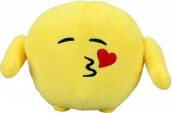 Jucarie De Plus Imoji Emoticon Face Throwing A Kiss 18 Cm