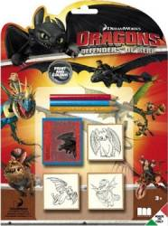 Jucarie educativa Multiprint How To Train Your Dragon Stamp Jucarii Interactive