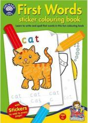 Jucarie educativa Orchard Toys First Words Sticker Colouring Book Jucarii Interactive