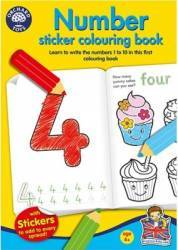 Jucarie educativa Orchard Toys Number Sticker Colouring Book Jucarii Interactive