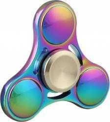 Jucarie Antistres Star Fidget Spinner Metalic Multicolor + Husa Jucarii antistres