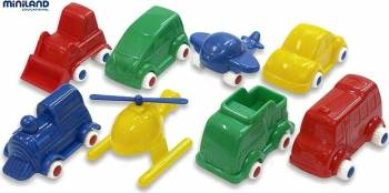 Jucarii Minimobil Miniland 8 vehicule Machete
