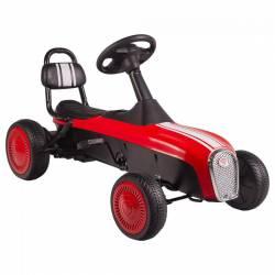Kart cu pedale Retro Kidscare Rosu Masinute si vehicule pentru copii