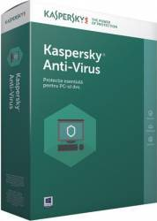 Kaspersky Anti-Virus European Edition 1PC 1An Licenta Reinnoire Electronica Antivirus