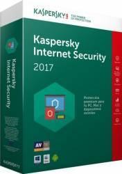 Kaspersky Internet Security 2017 3PC 1An+3luni gratuite Licenta Noua Box