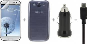 Kit 4 accesorii Blautel STGAS3 pentru Samsung Galaxy S3 i9300 Accesorii Diverse Telefoane