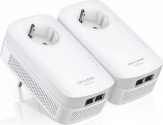 Kit Adaptor Powerline TP-Link TL-PA7020PKIT AV1000 2x Gigabit Passthrough Adaptor Retea
