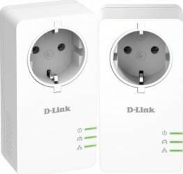 Kit Adaptor Powerline D-Link DHP-P601AV AV2 1000 HD Gigabit  Adaptor Retea
