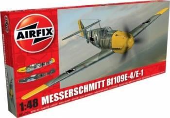 Kit aeromodele Airfix 5120A Avion Messerschmitt Bf109E-4E-1 Scara 1 48 Jucarii Interactive