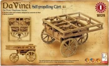 Kit constructie Carucior cu autopropulsie functional DaVinci Jucarii Interactive