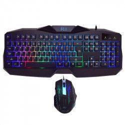 Kit Gaming Tastatura+Mouse Rii RK400 USB Tastaturi Gaming