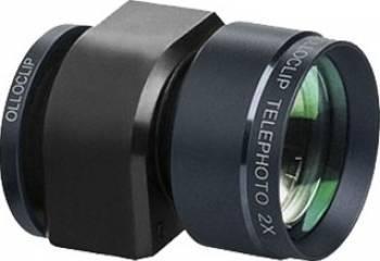 Kit Lentile Ollo Clip 3 in 1 Telephoto Apple iPhone 5 si 5s Black Selfie Stick si Accesorii Camera