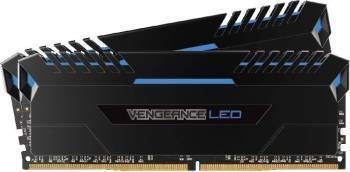 Kit Memorie Corsair Vengeance 2x8GB DDR4 3000MHz CL15 Blue LED Dual Channel Memorii