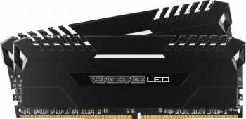 Kit Memorie Corsair Vengeance 2x8GB DDR4 3200MHz CL16 White LED Memorii