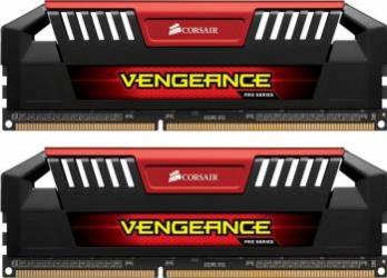 Kit Memorie Corsair Vengeance Pro 2x8GB DDR3 1866MHz CL10 Red